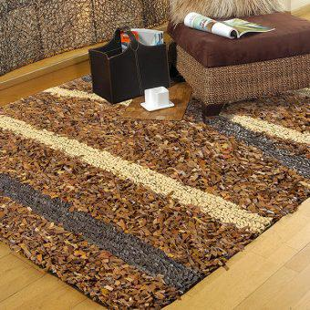 LEATHER WOVEN RUGS