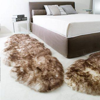 LEATHER & FUR BED SETS