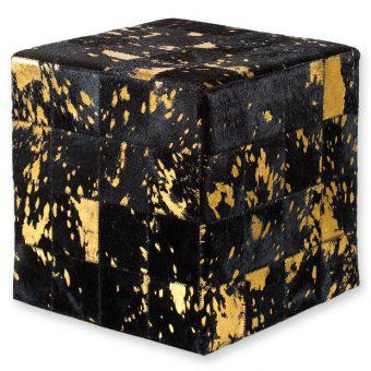 ΣΚΑΜΠΟ COW SKIN (10) 40x40x40 cm BLACK acid GOLD, ΣΚΑΜΠΟ COW SKIN (10) 40x40x40 cm BLACK acid GOLD, ΣΚΑΜΠΟ COW SKIN (10) 40x40x40 cm BLACK acid GOLD