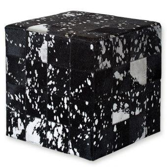 ΣΚΑΜΠΟ COW SKIN (10) 40x40x40 cm BLACK acid SILVER, ΣΚΑΜΠΟ COW SKIN (10) 40x40x40 cm BLACK acid SILVER, ΣΚΑΜΠΟ COW SKIN (10) 40x40x40 cm BLACK acid SILVER