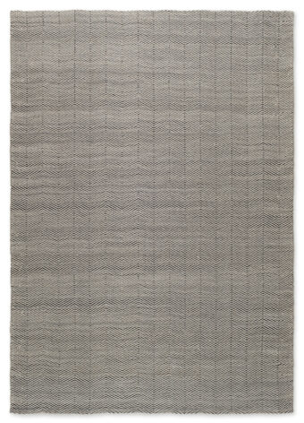 HERRINGBONE OUTDOOR RUG GREY/BLACK